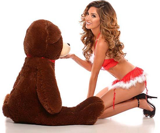Farrah-Abraham-Christmas-Lingerie-1