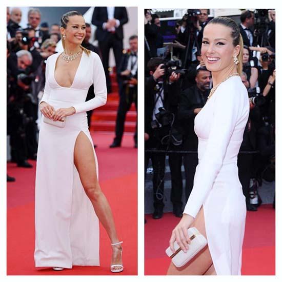 Petra Nemcova Flashes Underwear At Cannes
