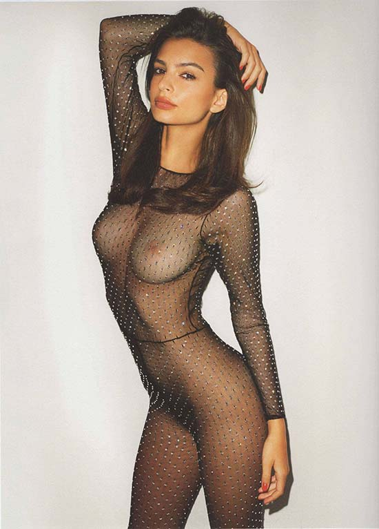 Emily Ratajowski See-Through Bodysuit
