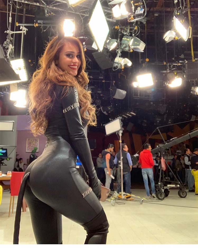 Yanet Garcia cat suit